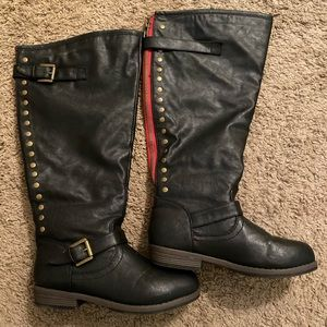 Journee Collection black wide calf boots